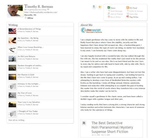 Deleted Bio of Timmy Berman