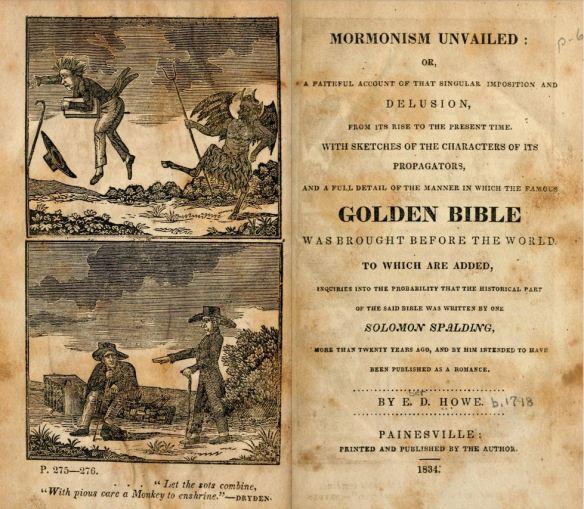 Mormonism Unvailed Title Page