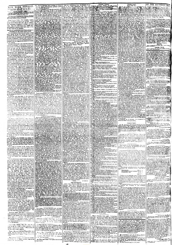 The New York Herald, May 30, 1843.