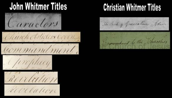 John & Christian Whitmer Title Comparison