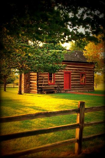 Peter Whitmer Reconstructed Log Cabin