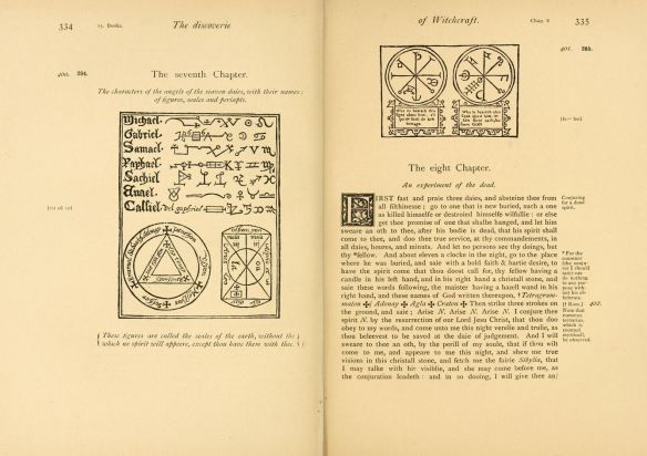 "Pages 334-335 of the ""Discoverie of Witchcraft"" by Reginald Scot, published in 1584 (1886 reprint)"