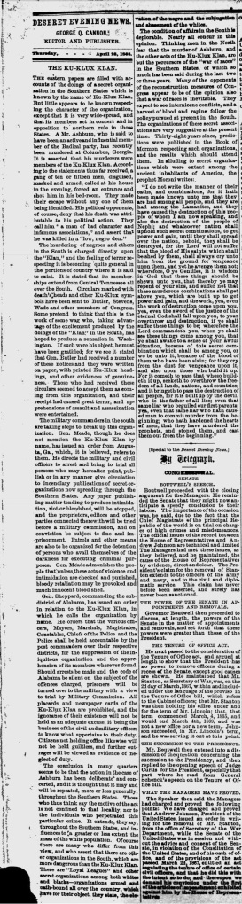 DN, Apr 23, 1868 George Cannon, KKK