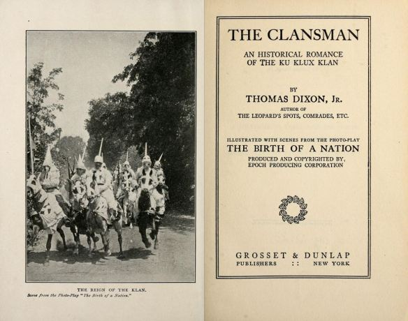 The Clansman 1905 Title Page