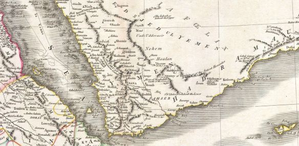 1811 Map of Arabia Nehem
