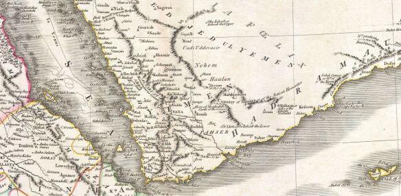 1811 Map of Arabia Nehem