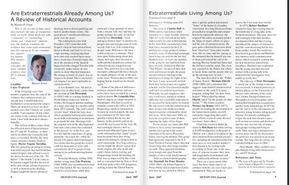 Aston Mufon Article