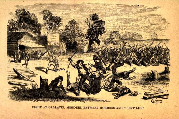 """Fight at Gallatin"", from Mormonim Unvailed, John D. Lee, p. 59"