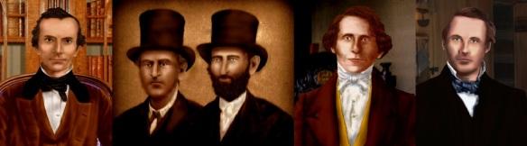 1838 Dissenters: O.Cowdery,D.Whitmer,J.Whitmer,W.Phelps,L.E.Johnson